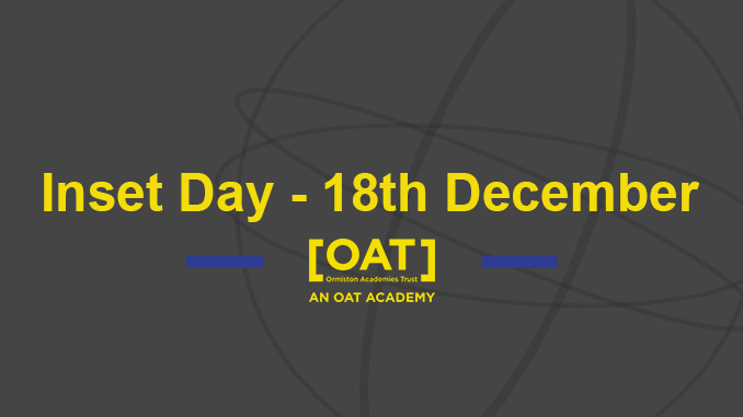 Inset Day – 18th December