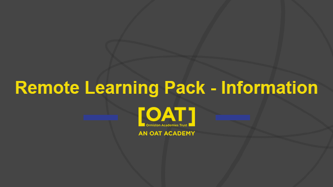 Remote Learning Pack – Information